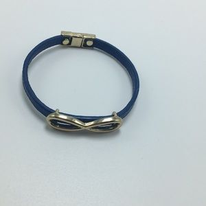 Jewelry - Infinity blue and gold bracelet